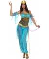 Arabische danseres verkleedkleding blauw